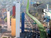 Trazado del Viaducto Bicentenario. Imagen: Excélsior, 29 de enero de 2009