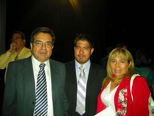 Mtro. Pánfilo Padilla, Ing. Wistenio Ochoa, Lic. Mildred Velázquez