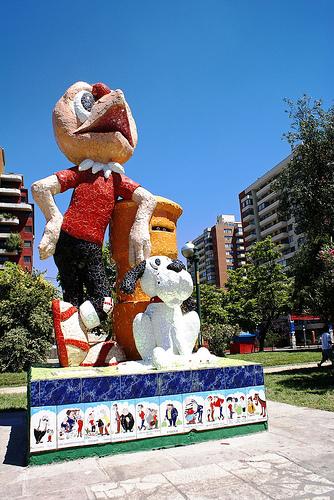 Monumento a Condorito. Imagen: Leo Román, vía Flickr