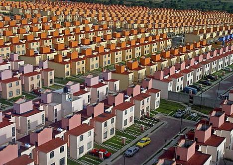Viviendas en Ixtapaluca. Imagen: www.oobject.com