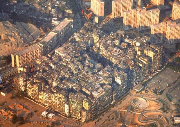 Kowloon City en su época de gloria, poco antes de su demolición