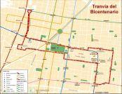 Trazado del tranvía de Marcelo. En el sector hay 4 líneas de Metro, 1 de Metrobús y 1 de trolbuses enchulados. ¿Se necesita realmente un tranvía?