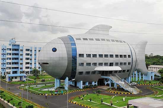 Edificio de la Oficina Regional de Desarrollo Pesquero en Hyderabad, India