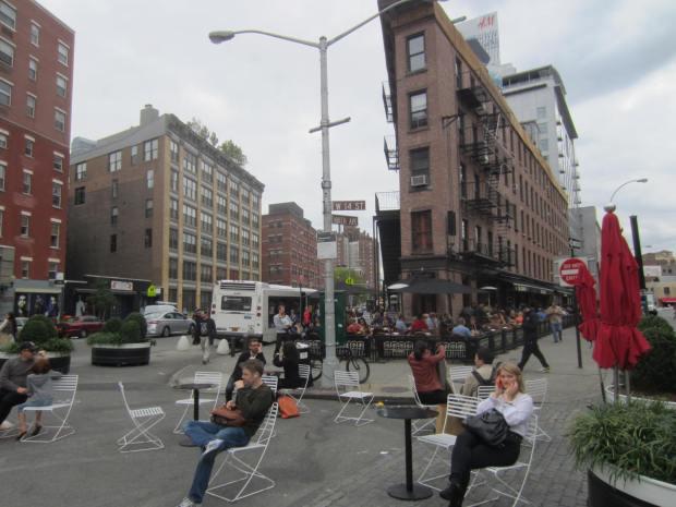 Parque de bolsillo en Nueva York. Imagen: Rodrigo Díaz