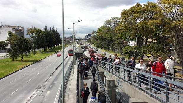 Rampa en TransMilenio. Imagen: Rodrigo Díaz