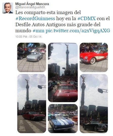 Desfile autos antiguos