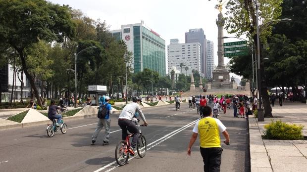 Ciclovía recreativa en la ciudad de México. Imagen: Rodrigo Díaz