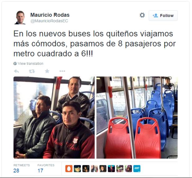 Tuit Mauricio Rodas
