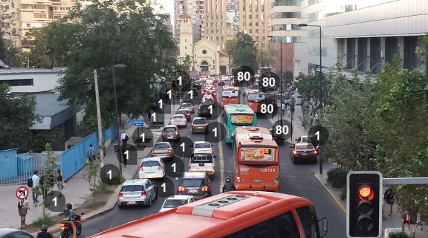Simple matemática urbana / Santiago. Imagen: Rodrigo Díaz